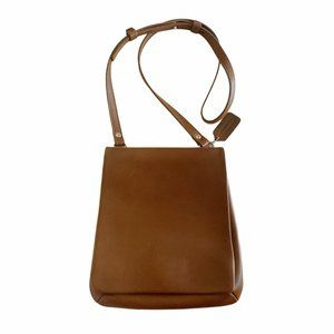 Coach Vintage Slim Flap Saddle Brown Leather Bag